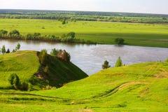 Vista del fiume fotografie stock
