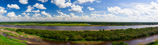 Vista del fiume Fotografie Stock Libere da Diritti