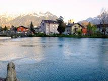Vista del fiume immagine stock