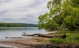 Vista del fiume Connecticut immagine stock