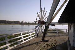 Vista del fiume dal mulino a vento di atterraggio Fotografia Stock