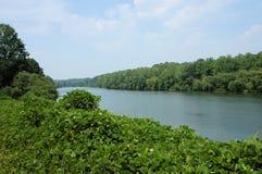 Vista del fiume del Catawba Immagine Stock
