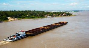 Vista del fiume del Paraguay Asuncion, Paraguay fotografia stock