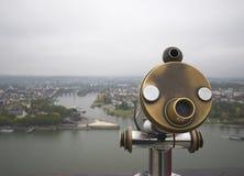 Vista del fiume della Mosella e del Reno Fotografia Stock Libera da Diritti