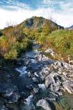Vista del fiume di Alcantara in Sicilia Fotografia Stock Libera da Diritti