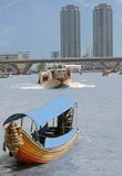 Vista del fiume di Bangkok Immagini Stock Libere da Diritti