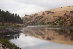 Vista del fiume di Clearwater vicino a Lenore Idaho. Fotografia Stock Libera da Diritti