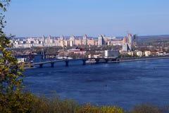 Vista del fiume di Dnieper Fotografie Stock
