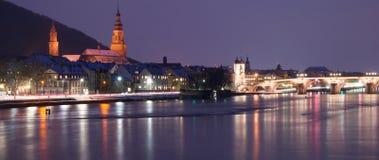 Vista del fiume di Heidelberg Fotografie Stock Libere da Diritti