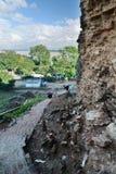 Vista del fiume di Irrawaddy dalla pagoda di Mingun o di Pahtodawgyi Regione di Sagaing myanmar fotografie stock