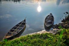 Vista del fiume di khowai Fotografia Stock