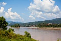 Vista del fiume di Mekong Fotografia Stock