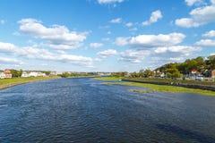 Vista del fiume di Nemunas fotografia stock