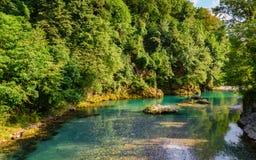 Vista del fiume di Serio Immagini Stock Libere da Diritti