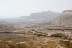Vista del fiume di Zin Immagini Stock