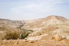 Vista del fiume di Zin Fotografia Stock