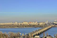 Vista del fiume Dnieper immagini stock libere da diritti