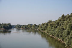 vista del fiume Kuban Immagini Stock