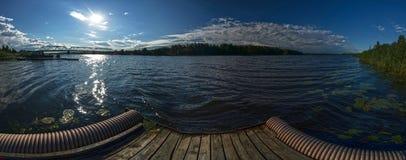 Vista del fiume nelle portate più basse Fotografia Stock Libera da Diritti