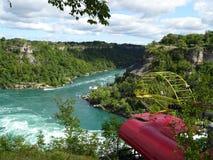 Vista del fiume Niagara circondato da vegetazione Immagini Stock Libere da Diritti