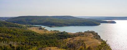 Vista del fiume Volga Immagini Stock Libere da Diritti