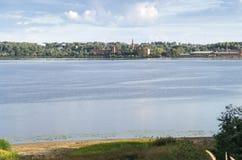 Vista del fiume Volga Immagine Stock