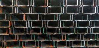 Vista del fondo de acero imagenes de archivo