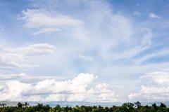 Vista del fondo del cielo Fotografia Stock