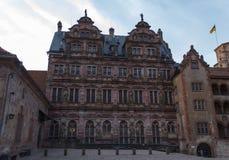 Vista del frammento del castello di Heidelberg Fotografia Stock Libera da Diritti