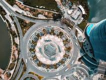 Vista del fuco di una rotonda a Macao fotografie stock libere da diritti