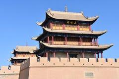 Vista del fuerte de Jiayuguan, China fotos de archivo