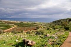Vista del Galilee Immagini Stock Libere da Diritti