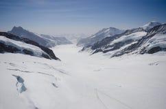 Vista del ghiacciaio da Jungfrau Fotografia Stock