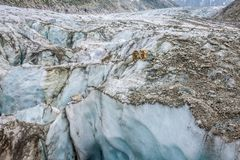 Vista del ghiacciaio di Argentiere, Chamonix-Mont-Blanc, Mont Blanc Massif, alpi, Fran Fotografie Stock