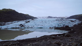 Vista del ghiacciaio Giorno di previsione del nordico archivi video