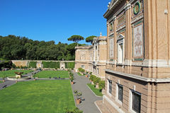 Vista del giardino del museo del Vaticano Roma, Italia, Europa Immagine Stock