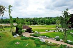 Vista del giardino del paesaggio Fotografia Stock