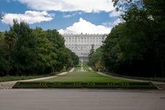 Vista del giardino del palazzo reale Fotografie Stock
