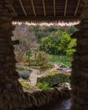 Vista del giardino di tè giapponese Immagini Stock