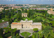 Vista del giardino nel Vaticano, Roma, Italia Immagini Stock Libere da Diritti