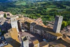Vista del gimignano de san, Toscana, Italia Foto de archivo libre de regalías