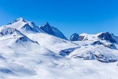 Vista del glaciar magnífico de Motte Imagenes de archivo