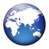 Vista del globo Immagini Stock