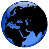 Vista del globo - Medio Oriente Fotografia Stock