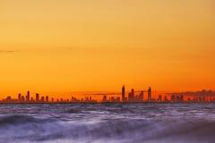 Vista del Gold Coast sobre el océano Imágenes de archivo libres de regalías