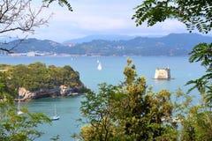 Vista del golfo de los poetas, La Spezia, Italia imagen de archivo libre de regalías