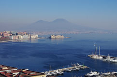 Vista del golfo de Neaples, Italia Fotos de archivo