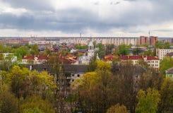 Vista del gran Novgorod de una altura Imagen de archivo