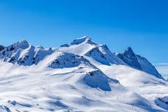 Vista del Grande Motte del La de la montaña Foto de archivo