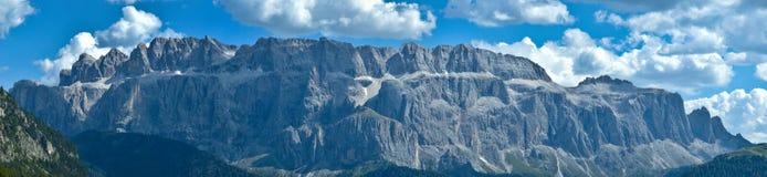 Vista del grupo de Sella, Alta Badia - dolomías Fotos de archivo libres de regalías